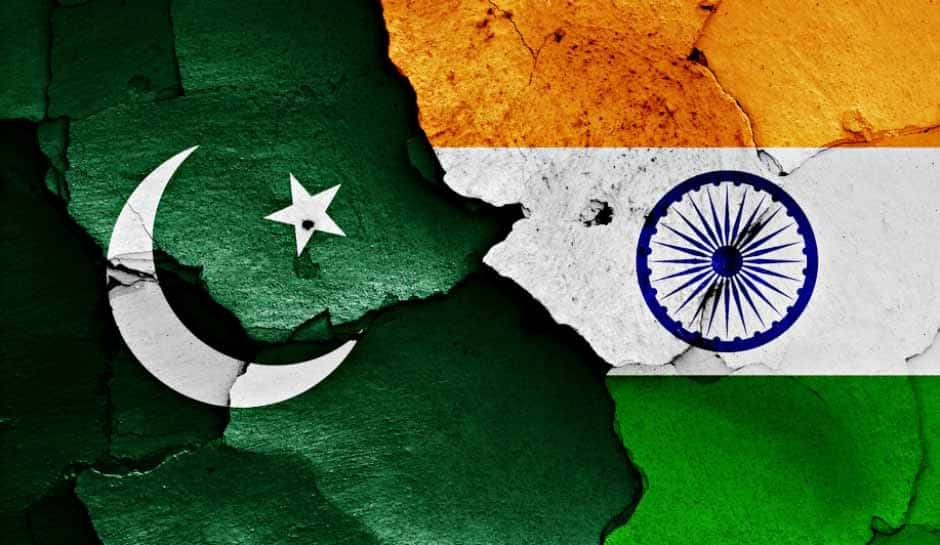 Bandeiras do Paquistão e da Índia