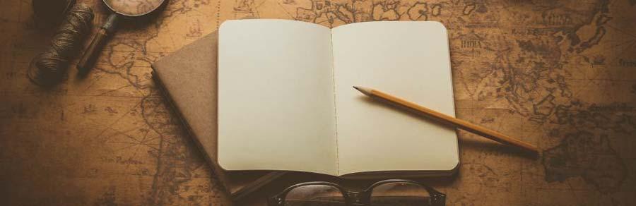 mapa e caderno para o CACD