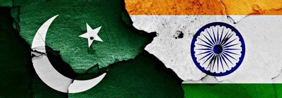 bandeira da Índia e do Paquistão