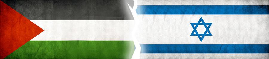 questão palestina, bandeiras de Israel e da Palestina