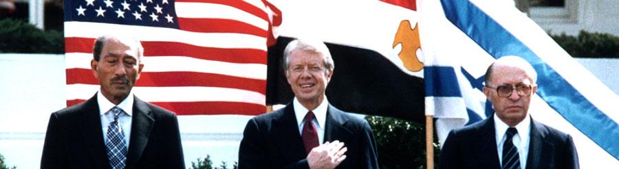 Anwar Sadat, Jimmy Carter e Menachem Begin