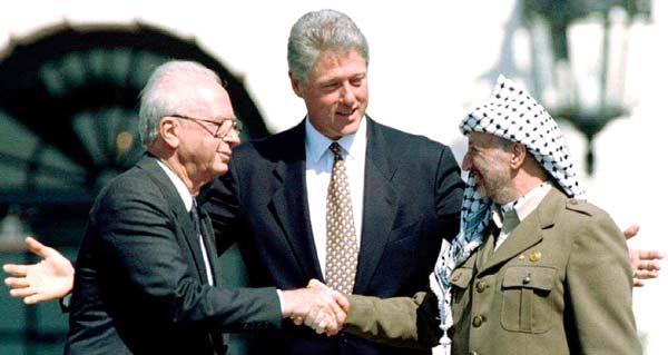 Rabin, Clinton e Arafat