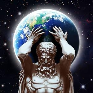 Atlas com o mundo nas costas