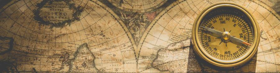 bussola, mapa e geografia