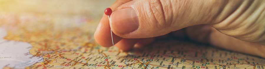 mapa e mão
