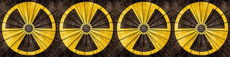 símbolo nuclear na horizontal