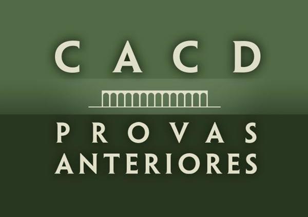 cacd provas anteriores