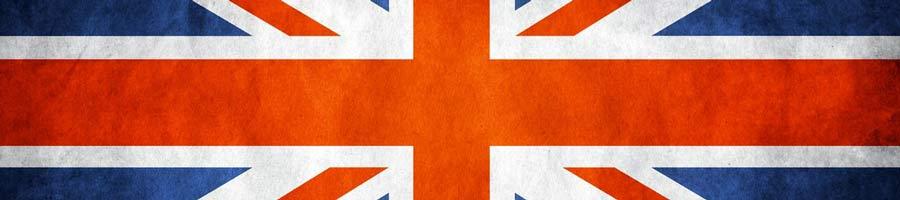 bandeira do Reino Unido na horizontal