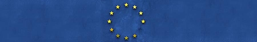 bandeira da União Europeia na horizontal