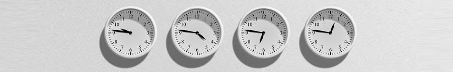 relógios do CACD