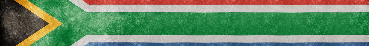 Bandeira da África do Sul na horizontal