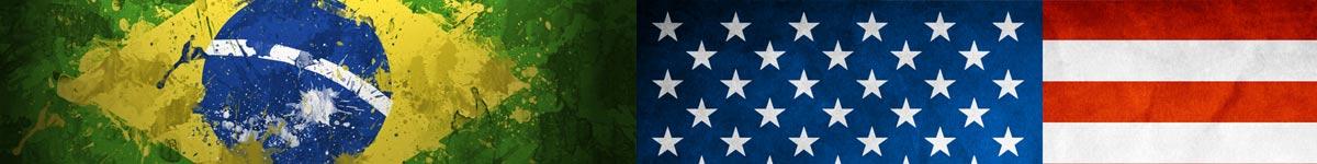 Bandeira Brasil Estados Unidos CACD horizontal